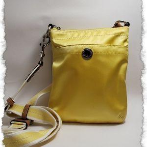 Coach yellow nylon cross body